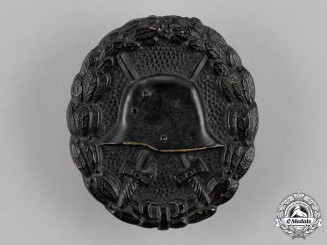 Germany. A Wound Badge, Black Grade, Field Repaired