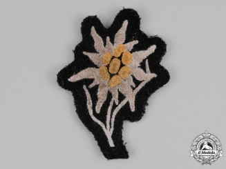 Germany, Waffen-SS. A Mountain Troop Sleeve Edelweiss Patch