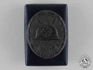 Germany. A Wound Badge, Black Grade, in its LDO Presentation Case