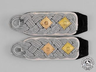 Germany, SS. A Pair of Infantry Oberführer's Shoulder Boards
