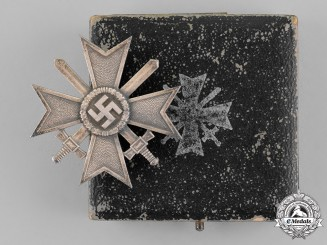 Germany. A War Merit Cross First Class with Swords in Case