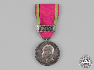 "Saxony, Kingdom. A Silver Merit Medal, with ""1914"" Ribbon Clasp"
