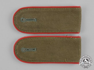 Germany, DAK. A Set of Tropical Enlisted Artillery Shoulder Straps