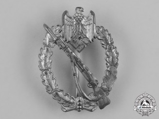 Germany, Heer. A Silver Grade Infantry Assault Badge