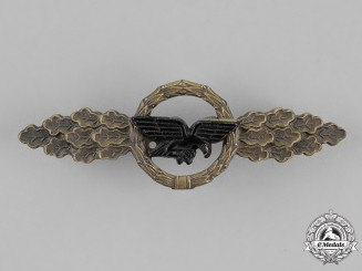 Germany, Republic. A Luftwaffe Front Flying Clasp for Transport Pilots, Bronze Grade, 1957 Version