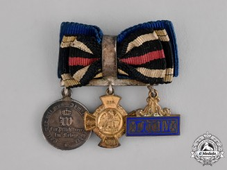 Prussia, State. A Three-Piece Boutonniere with its Miniature Awards
