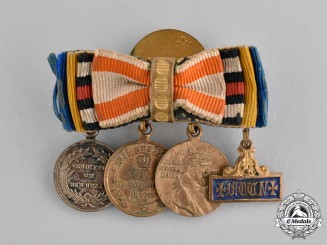 Prussia, State. A Four-Piece Boutonniere with its Miniature Awards