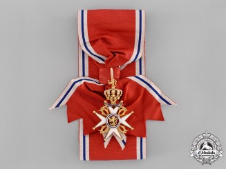 Norway. An Order of St. Olaf; Grand Cross with Swords in Gold (1905-1937)