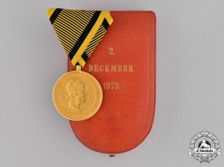 Austria, Empire. A Cased 1873 War Commemorative  Medal