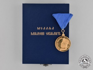 Republic of Serbia. A Gold Arkan's Medal for Bravery Miloš Obilić