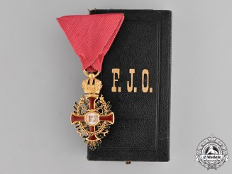 Austria, Empire. A Franz Joseph Order in Gold, Knight's Cross, by Vincent Mayer, c.1898