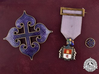 Spain. A Royal Collegiate Corporation of Noble Sons of the Nobility of Madrid, Grand Cross by Cejalvo c.1940