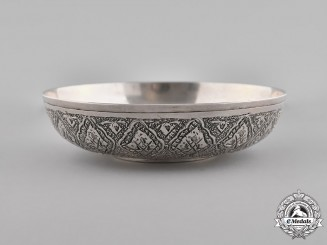 Iran, Pahlavi Empire. A Naser al-Din Shah Qajar of the Qajar Dynasty Commemorative Bowl