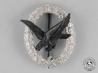 Germany, Luftwaffe. An Air Gunner Badge (Without Lightning Bolts), by F.W. Assmann