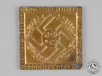 Germany. A 1934 SS/SA/Wehrmacht Ski Championships in Berchtesgaden Table Medal