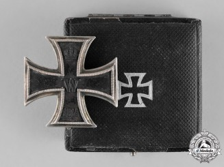 Prussia, State. A Cased Iron Cross 1914 First Class, Inscribed