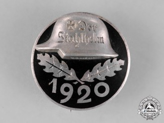 "Germany. An Early 1920 ""Der Stahlhelm"" Veteran's Association Membership Badge"