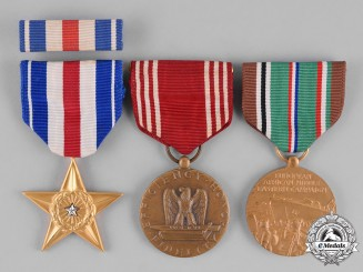 United States. A Distinguished Flying Cross to Colonel Nelson, United States Army, United States Air ForceUnited States. A Silver Star for Italy to Private I Class Truax, 180th Infantry Regiment, United States Army
