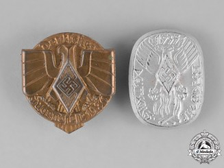 Germany. A Grouping of Two HJ Festival of Youths Badges