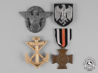 Germany. A Grouping of Four First and Second War Insignia
