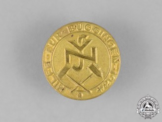 Germany, National Socialist People's Welfare. A Pin for Aiding Buggingen in 1934