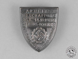 Germany. A 1934 DAF Employment Exhibition Badge