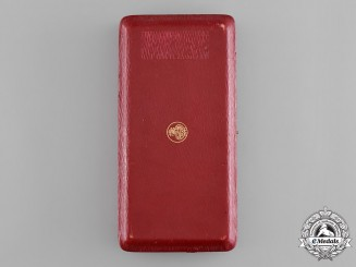 Zanzibar. British Protectorate. An Order of the Brilliant Star, I Class Case, by Elkington & Co.