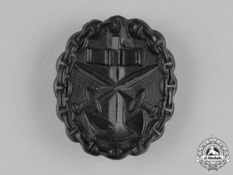 Germany, Empire. A Naval Wound Badge, Black Grade