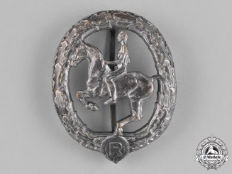 Germany. An Equestrian Badge, Silver Grade, by Christian Lauer
