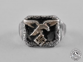 Germany, Luftwaffe. A Silver Ring c.1940