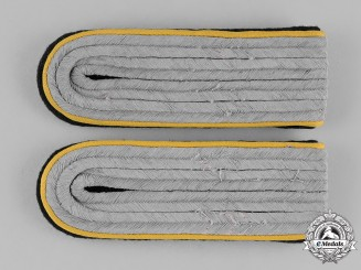 Germany, SS. A Cavalry Shoulder Boards for an SS-Untersturmführer