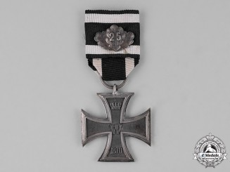 "Prussia, State. An Iron Cross 1870 Second Class, with ""25"" Jubilee Oakleaves"