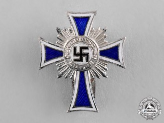 Germany. A Cross of Honour of the German Mother, Silver Class, Lapel Badge