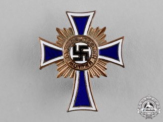 Germany. A Cross of Honour of the German Mother, Bronze Grade, Lapel Badge