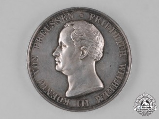 Prussia, State. A Silve Life Saving Table Medal