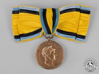 Saxony. A Bronze Carola Medal