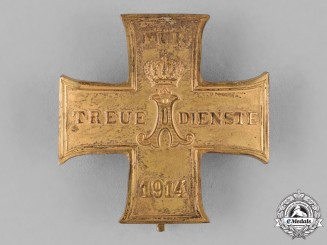 Schaumburg-Lippe. A 1914 Cross for Loyal Service, First Class