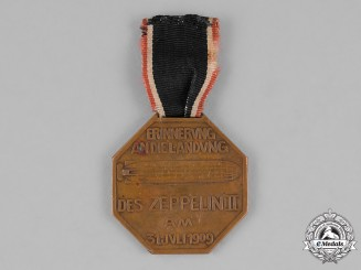 Prussia, State. A 1909 Commemorative Medal for the landing of Zeppelin II