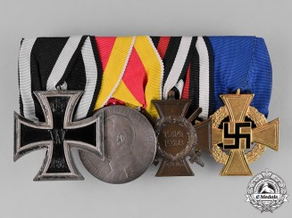 Prussia, State. A Prussia-Baden Medal Bar with Four Medals, Awards, and Decorations
