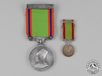 India, Bahawalpur. A Military General Service Medal, Fullsize and Miniature, c.1940
