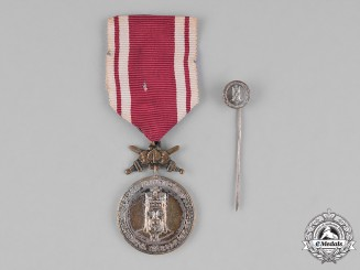 Czechoslovakia. An Order of Charles IV, Type II, Medal for Merit and Loyalty, 2nd Class