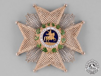 Spain, Kingdom. A Royal and Military Order of St. Hermenegildo, Commander Breast Star c.1910