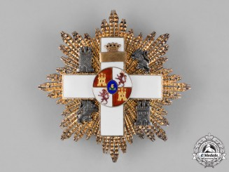 Spain, Franco's Period. An Order of Military Merit, White Distinction, III Class Breast Star c.1950