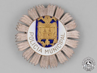 Spain, Franco Period. A Municipal Police Breast Star