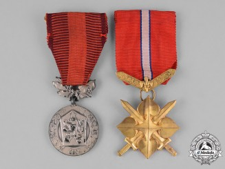 Czechoslovakia, Socialist Republic. Two Medals & Awards