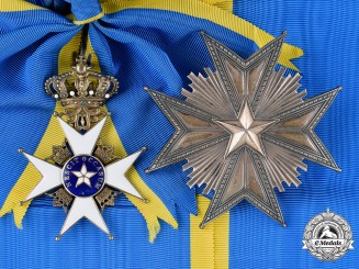 Sweden, Kingdom. An Order of the North Star, I Class Grand Cross, c.1910
