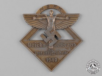 Germany, NSFK. A 1940 National Socialist Flying Corps Motorized Model Flying Medal
