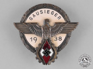 Germany, HJ. A 1938 Victor's Badge in the National Region-Level Trade Competition