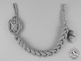 Germany. A Wehrmacht Army (Heer) Marksmanship Lanyard, Grade VII