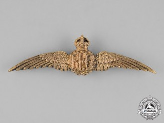 United Kingdom. A Royal Flying Corps (RFC) Pilot Wings, c.1917